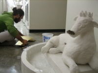 Lamb of God Fountain in Progress