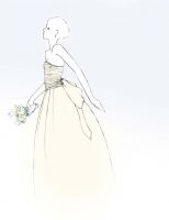 Wedding dress project illustration