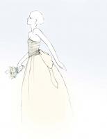 Wedding dress project illustration